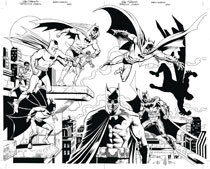 Image: Detective Comics #1000 (DFE variant cover - Jurgens & Nowlan virgin B&W) - Dynamic Forces
