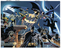 Image: Detective Comics #1000 (DFE variant cover - Jurgens & Nowlan) (signed - Nowlan [Gold]) - Dynamic Forces