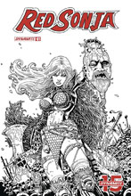 Image: Red Sonja #1 (DFE variant cover - Haeser FOC B&W) - Dynamic Forces