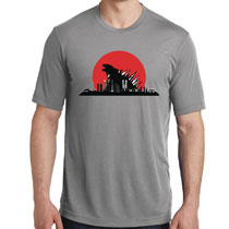 Image: Red Sun Kaiju T-Shirt  (M) - Famous Monsters of Filmland
