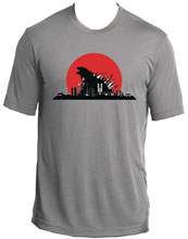 Image: Red Sun Kaiju T-Shirt  (XL) - Famous Monsters of Filmland