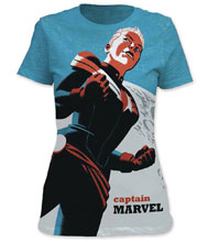 Image: Captain Marvel T-Shirt: Michael Cho [Fitted]  (XL) - Impact Merchandising
