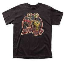 Image: Marvel T-Shirt: Ant-Man & The Wasp - Antique Logo  (L) - Impact Merchandising