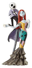 Image: Disney Showcase Deluxe Figure: Nightmare Before Christmas - Jack and Sally  - Enesco Corporation