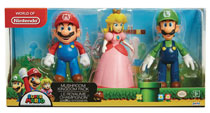 Image: Nintendo 4-Inch Action Figure Mushroom Kingdom Hero 3-Pack Case  - Jakks Pacific
