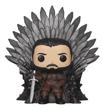 Image: Pop! Deluxe Game of Thrones Vinyl Figure: Jon Snow on Iron Throne  - Funko