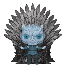 Image: Pop! Deluxe Game of Thrones Vinyl Figure: Night King on Iron Throne  - Funko