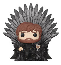 Image: Pop! Deluxe Game of Thrones Vinyl Figure: Tyrion on Iron Throne  - Funko