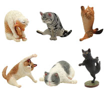 Image: Animal Life Yoga Cat 8-Piece Blind Mystery Box Display  - Union Creative