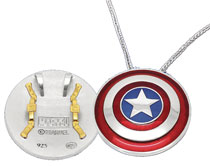Image: Captain America Necklace: Large Shield  - What's Your Passion Jewelry