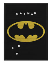 Image: DC Heroes Felt Letter Board Wall Art: Batman  (13x17 inch) - Cohen Hazan Group LLC