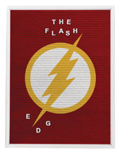 Image: DC Heroes Felt Letter Board Wall Art: Flash  (13x17.5 inch) - Cohen Hazan Group LLC