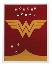 Image: DC Heroes Felt Letter Board Wall Art: Wonder Woman  (13x17.5 inch) - Cohen Hazan Group LLC