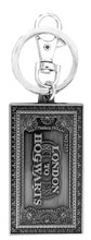 Image: Harry Potter Pewter Keyring: Hogwarts Express Ticket  - Monogram Products