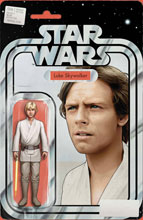 Image: Star Wars #6 (incentive 1:25 cover - Christopher Yellow Lightsaber Action Figure) - Marvel Comics