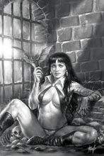 Image: Vampirella #11 (incentive 1:50 cover - Parrillo virgin B&W) - Dynamite