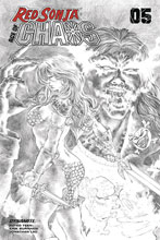 Image: Red Sonja: Age of Chaos #5 (incentive 1:25 cover - Quah B&W) - Dynamite