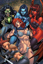 Image: Red Sonja: Age of Chaos #5 (variant cover - Garza virgin) - Dynamite