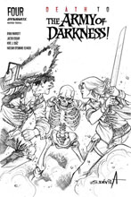 Image: Death to the Army of Darkness! #4 (incentive 1:25 cover - Davila B&W)  [2020] - Dynamite