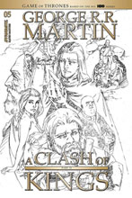 Image: George R.R. Martin's A Clash of Kings #5 (incentive 1:20 cover - Rubi B&W) - Dynamite