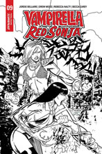 Image: Vampirella / Red Sonja #9 (incentive 1:15 cover - Gedeon B&W Homage) - Dynamite