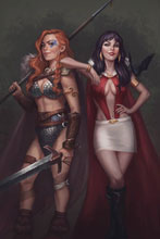 Image: Vampirella / Red Sonja #9 (variant cover - Sampaio virgin) - Dynamite