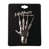Image: Nightmare on Elm Street Lapel Pin: Freddy Claw  (3-Inch) - Bioworld Merchandising