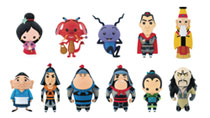 Image: Mulan Blind Mystery Box Display: 3D Foam Bag Clip  (24 Piece) - Monogram Products