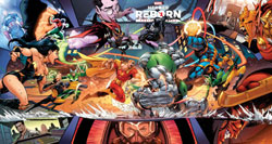 Image: Heroes Reborn #1 (variant Gatefold cover - Coello) - Marvel Comics