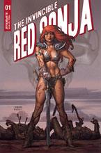 Image: Invincible Red Sonja #1 (cover B - Linsner) - Dynamite