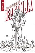 Image: Invincible Red Sonja #1 (incentive 1:25 cover - Linsner line art) - Dynamite