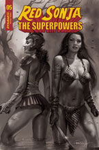 Image: Red Sonja: The Superpowers #5 (incentive 1:30 cover - Parrillo B&W) - Dynamite
