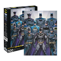 Image: Aquarius DC Comics Puzzle: Batman Batsuits  (500-Piece) - Nmr Distribution America