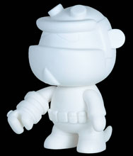 Image: Hellboy 5-inch Mini-Qee: Do-It-Yourseld  (Blank) - Dark Horse Comics