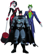 Image: Hush Action Figure 3-Pack: Joker, Stealth Batman & Harley Quinn  - DC Direct