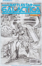 Image: Battlestar Galactica #3 (25-copy Ross sketch incentive cover) - Dynamite