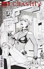 Image: Chastity #1 (Emanuela Lupacchino B&W variant incentive cover) - Dynamite