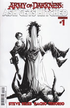 Image: Army of Darkness: Ash Gets Hitched #1 (Jae Lee B&W variant incentive cover) - Dynamite