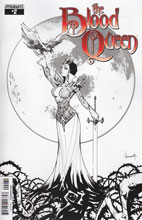 Image: Blood Queen #2 (variant incentive cover - Alé Garza B&W Line Art) (10-copy) - Dynamite
