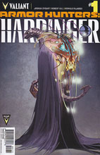 Image: Armor Hunters Harbinger #1 (variant incentive cover - Clayton Crain Character Design) (10-copy) - Valiant Entertainment LLC