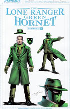 Image: Lone Ranger Green Hornet #1 (Timpano Green Hornet design incentive cover - 01021) (10-copy) - Dynamite