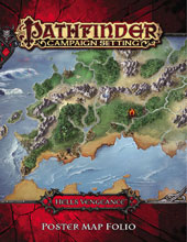 Image: Pathfinder Setting: Hell's Vengeance Poster Map Folio  - Paizo, Inc