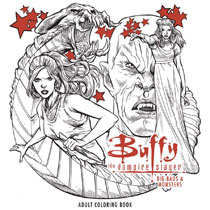 Image: Buffy the Vampire Slayer: Big Bads & Monsters Adult Coloring Book SC  - Dark Horse Comics