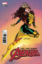Image: Uncanny Avengers #25 (variant X-Men Card cover - Jim Lee) - Marvel Comics