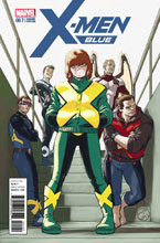 Image: X-Men Blue #7 (variant cover - Lopez) - Marvel Comics