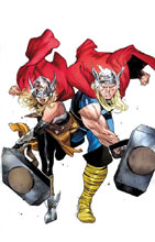 Image: Generations Poster: The Thunderer by Coipel  - Marvel Comics