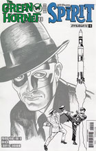 Image: Green Hornet '66 Meets The Spirit #1 (Templeton b&w incentive cover - 01041) (10-copy) - Dynamite
