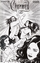 Image: Charmed #5 (cover D incentive - Sanapo B&W) (10-copy)  [2017] - Dynamite
