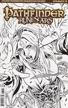 Image: Pathfinder: Runescars #3 (Borges b&w incentive cover - 03051) (20-copy) - Dynamite