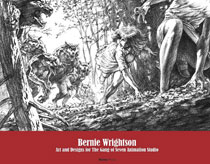 Image: Bernie Wrightson: Art & Designs for Gang of Seven Animation HC  - Hermes Press